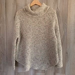 Free People Sweaters - Free People Chunky Knit Waffle Turtleneck